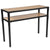 Holmby Collection Wood Grain Finish Console Table with Metal Legs