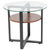 Princeton Collection Side Table with Wood Finish and Metal Legs