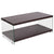 Wynwood Collection Coffee Table with Glass Frame and Shelves
