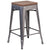 "24"""" High Backless Metal Counter Height Stool with Square Wood Seat"