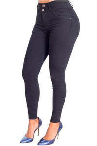 Everly | Regular Skinny Black Shaping Jeans