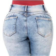 Load image into Gallery viewer, Luna | Regular Waist Skinny Acid Washed Shaping Jeans