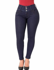 Mila | High Waisted Skinny Navy Shaper Jeans