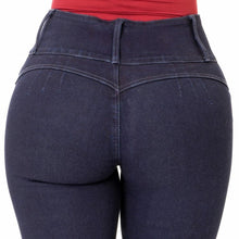 Load image into Gallery viewer, Mila | High Waisted Skinny Navy Shaper Jeans