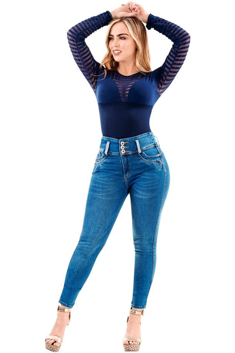 Willow | High Skinny Blue Shaping Jeans