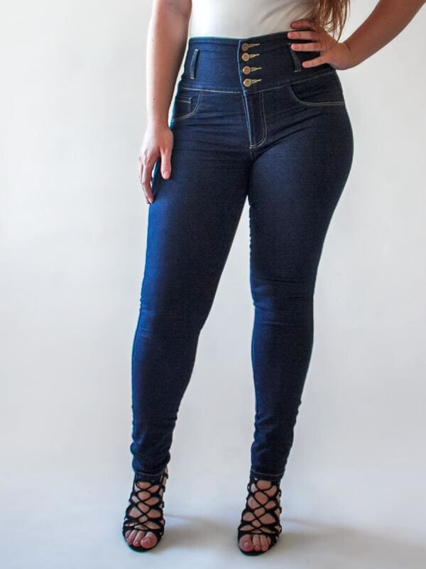 C4J Super High Blue Skinny Shaping Jeans