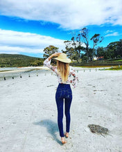 Load image into Gallery viewer, C4J Super High Waisted Blue Skinny Slimming Jeans