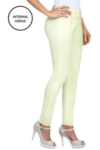 Elsea | Mid Rise Light Coloured Skinny Tummy Control Jeans
