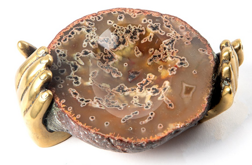Pietrina Checcacci - Hands Soap Dish Agate and Bronze