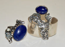 Load image into Gallery viewer, Lapis Lazuli Adjustable Ring
