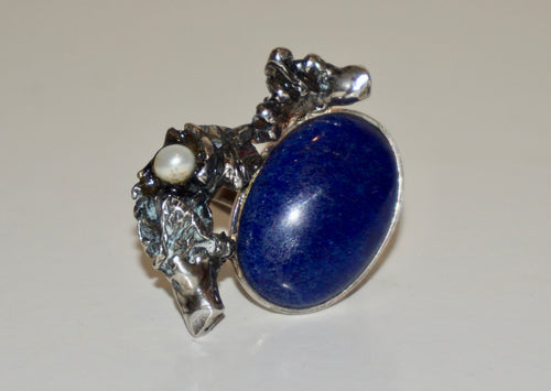 Lapis Lazuli Adjustable Ring