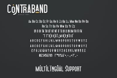 Highway Contraband - font duo + More