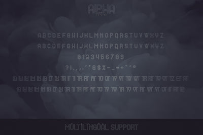 Alpha Display Font - 4 styles