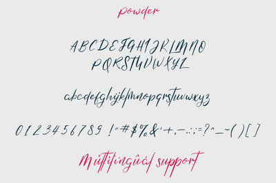 Mooka Powder - font duo
