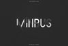 Minbus - Display font
