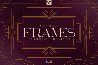 Art Deco Frames, Corners, Deviders