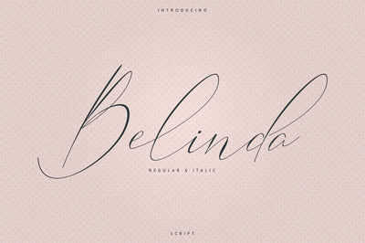 Belinda Script - Regular and Italic