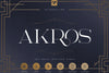 AKROS - ART DECO SERIF - Free Demo