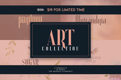Art Collection | 16 Fonts + Extra
