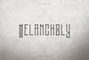 Melancholy Display Typeface + Extra