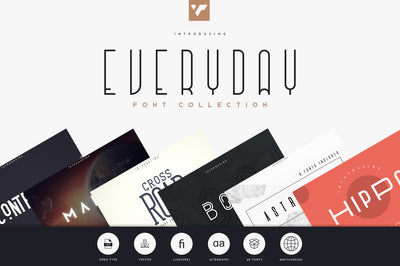 Everyday Font Collection | 8in1