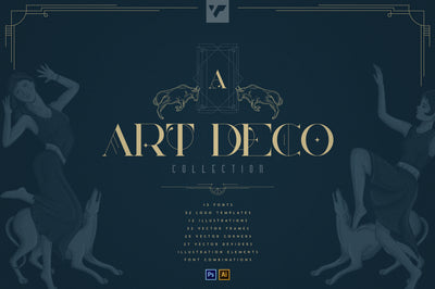 Art Deco Collection - Fonts, Vectors
