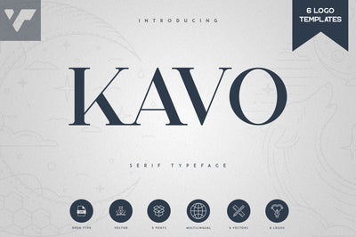 Kavo Serif Typeface | 5 weights