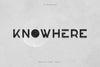 Knowhere - Display font family - Free Demo