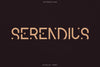 Serendius - Display font