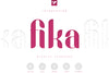 Fika Display typeface