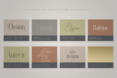 Fantastic Collection - Fonts, Logos