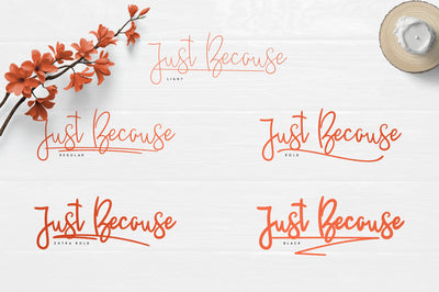 JustBecause font family