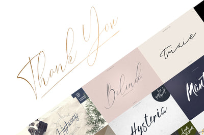 Signature Font Collection | 15in1