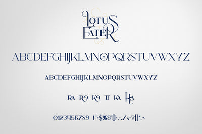 Lotus Eater - Vintage Font + Extras