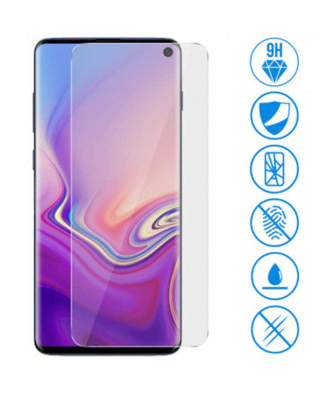 Samsung Galaxy S10 Screenprotector – Gehard glas – Full cover – Transparant
