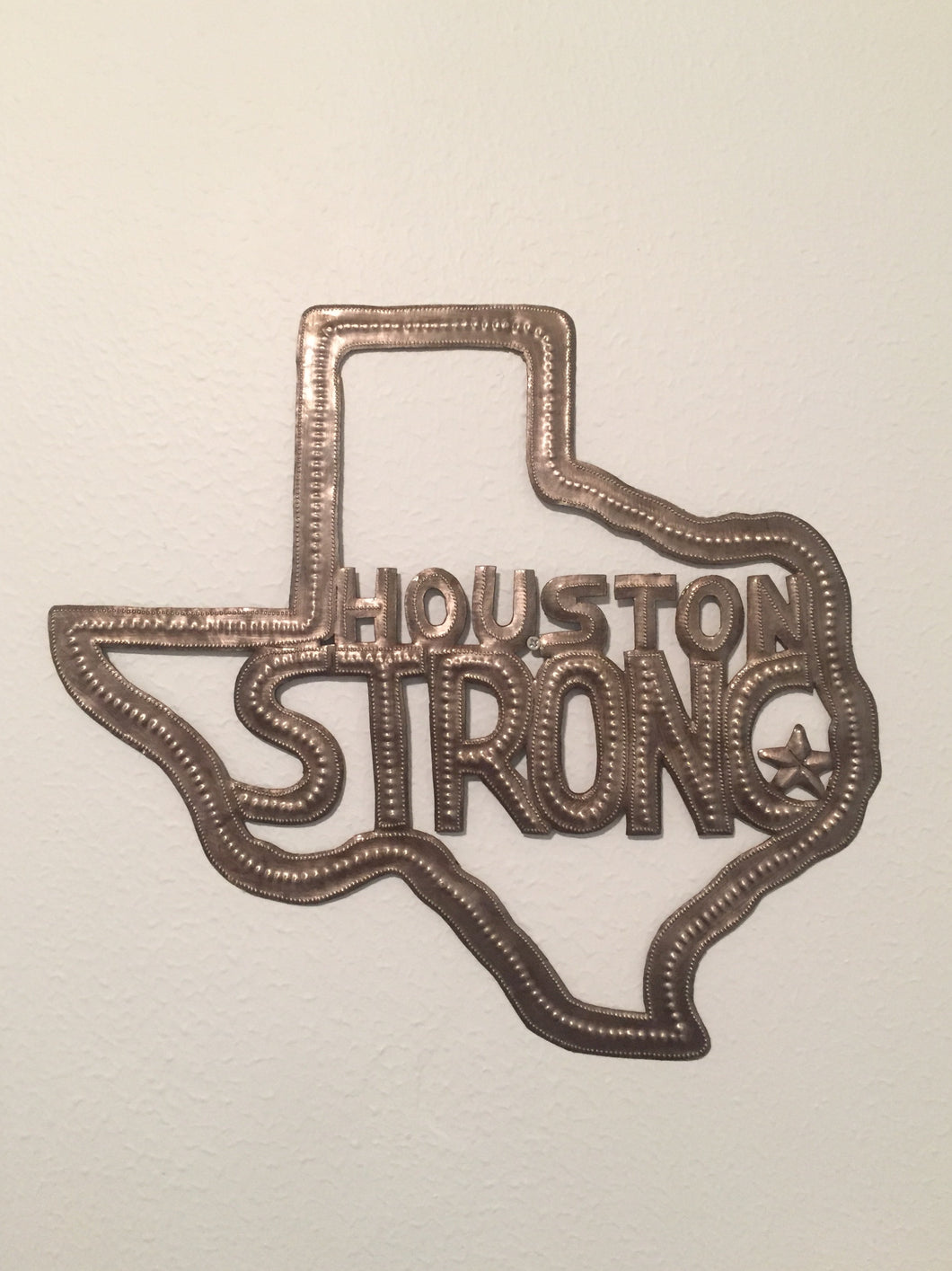 Houston Strong Metal Art