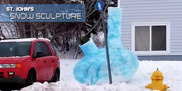 The Kids In St. John's Created A Snow Sculpture We Can Appreciate