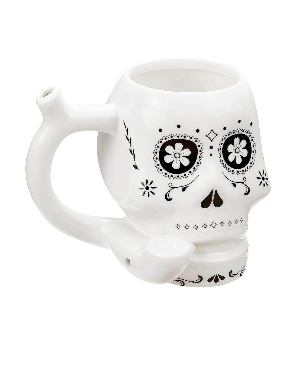 Skull Pipe Mug White - Roast & Toast