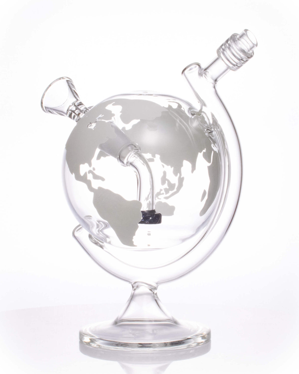 "8"" World Globe Bong - Glow In The Dark"
