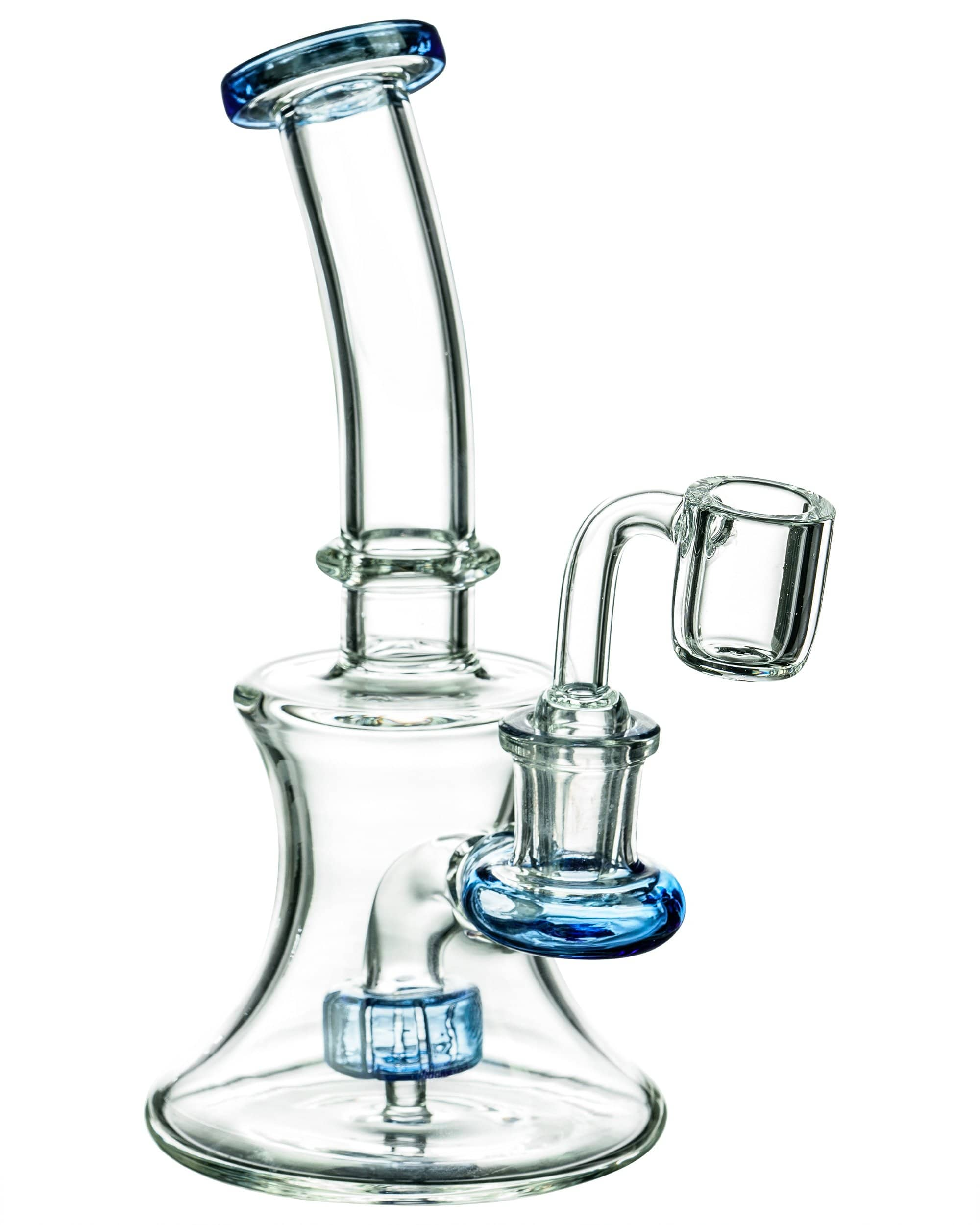 LA Pipes Hourglass Dab Rig With Colored Accents