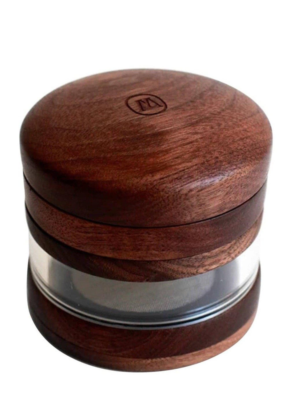 Large Wooden Grinder Jar