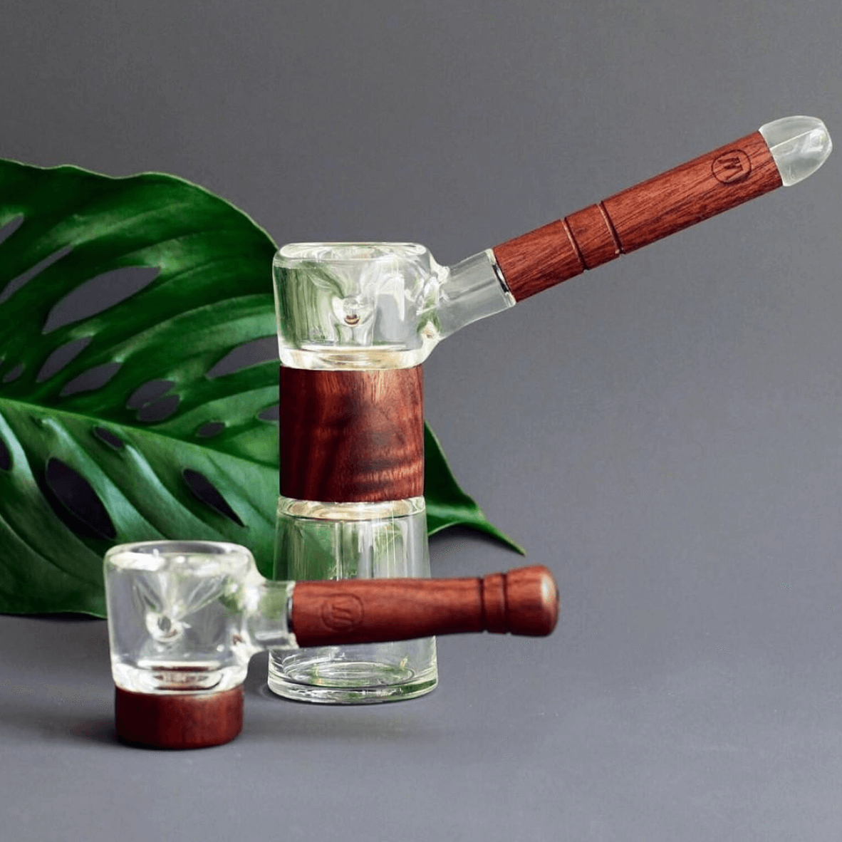 Marley Natural - Glass Spoon Pipe w/ Wood Accents