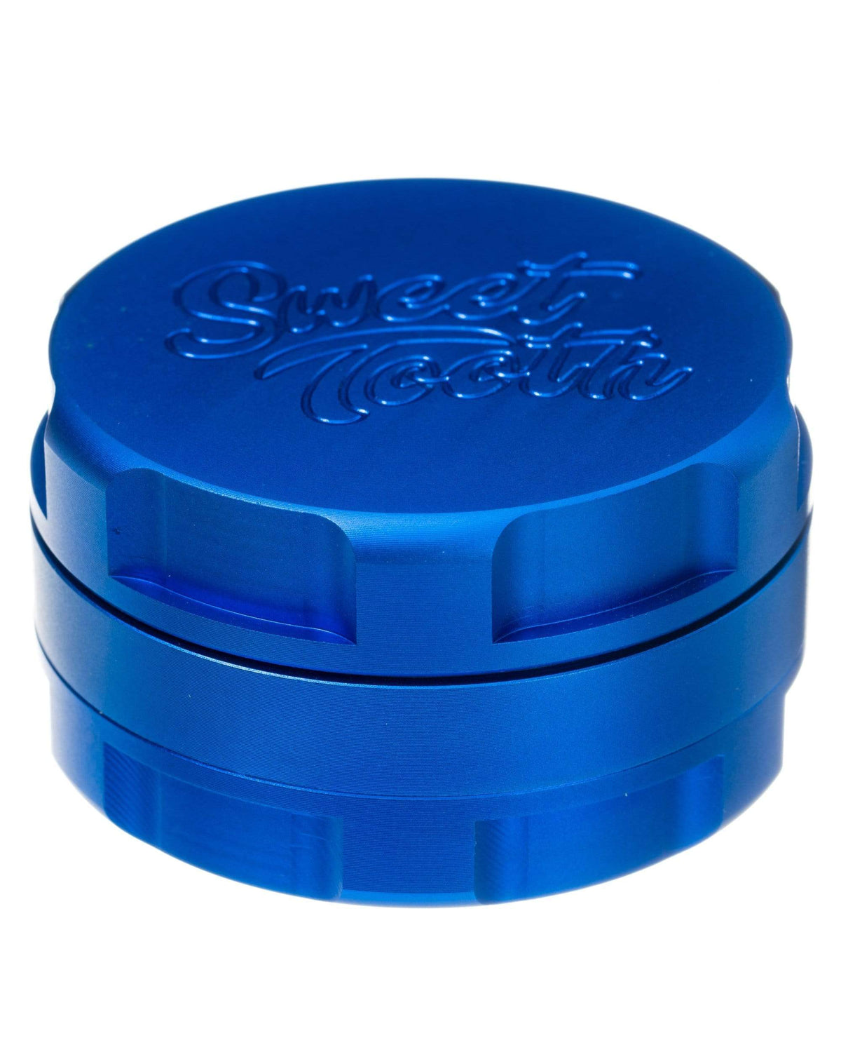 Blue 3-Piece Large Radial Teeth Aluminum Grinder