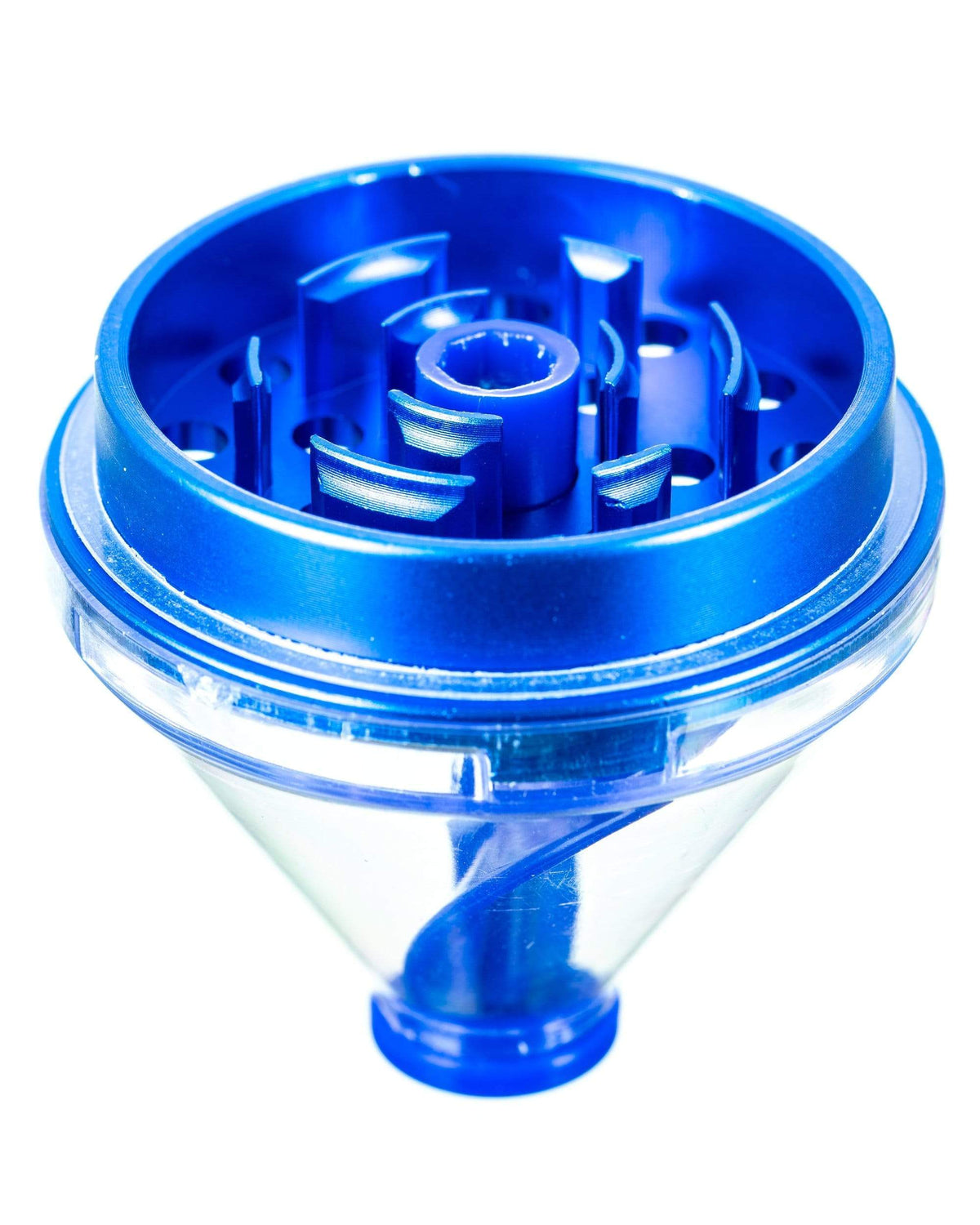 "Sweet Tooth Blue ""Fill 'er Up"" Funnel Style Aluminum Grinder"