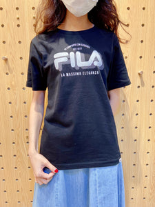 2104004 FILA shadow words logo tee - Black