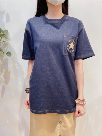 2103087 Cons Pocket Momo Logo Tee - Denim