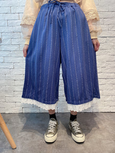 2001023 SM stripes lace bottom pants