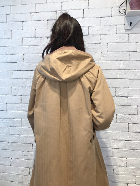 2009060 JF Hooded Long Zip  Jacket - BEIGE