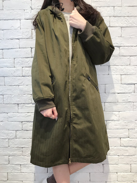 2009060 JF Hooded Long Zip  Jacket - GREEN