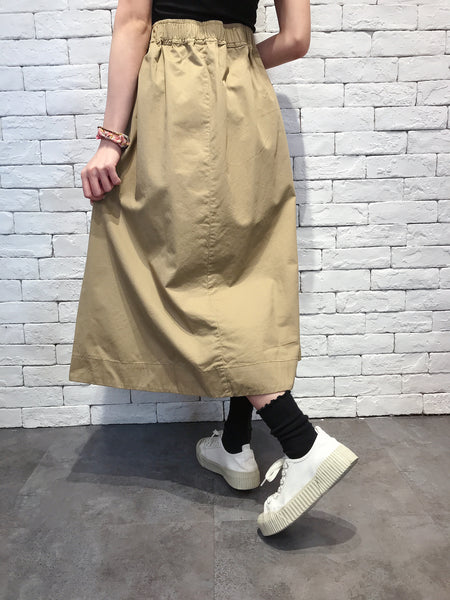 2010064 JF Front Pocket Buckle Skirt - Beige
